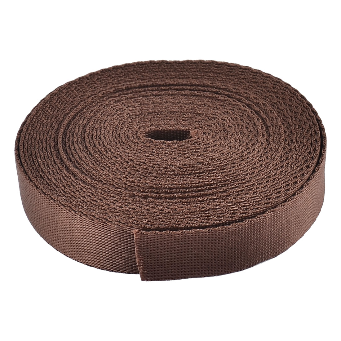 Household Nylon Suitcase Luggage Fastening Strap Belt Webbing Brown 2 x 500cm
