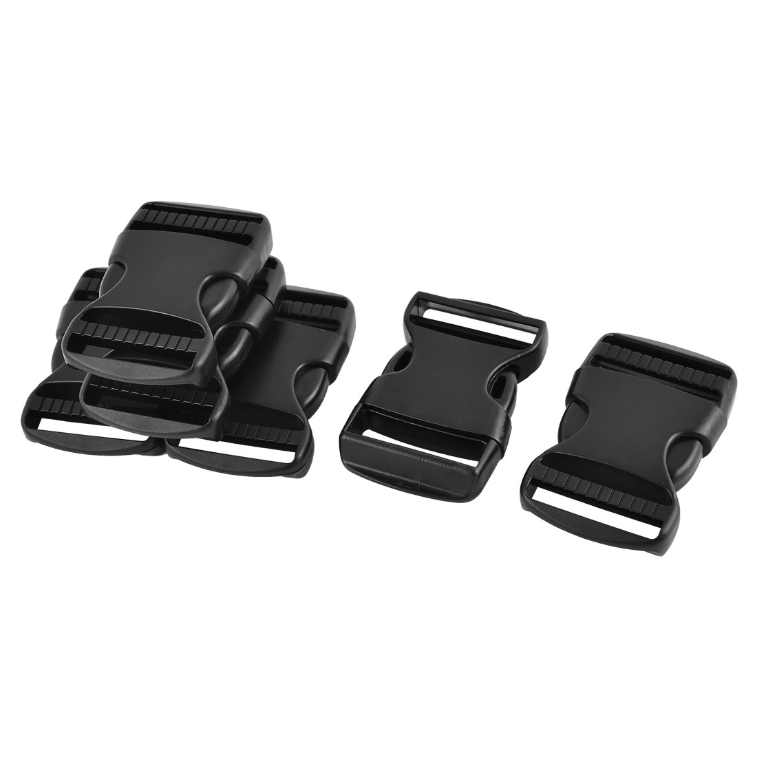 Pack Bag Belt Strap Plastic Thick Replacement Side Release Buckles Black 6pcs