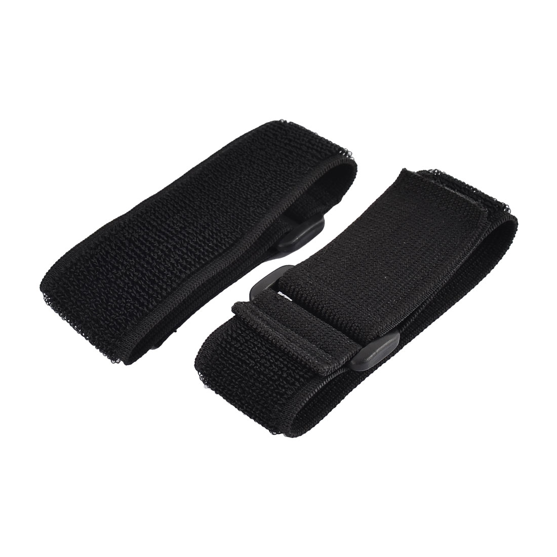 Outdoor Sports Nylon Elastic Backpack Hook Loop Tie Strap Black 3.8 x 30cm 2pcs