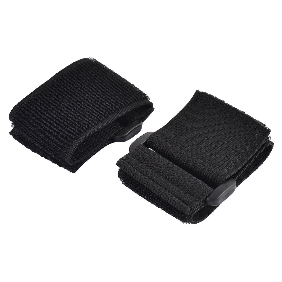 Outdoor Sports Nylon Elastic Backpack Hook Loop Tie Strap Black 5 x 20cm 2pcs
