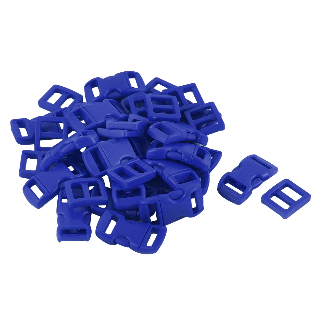 Suitcase Backpack Strap Plastic Side Quick Release Buckle Tri Glide Buckles Royal Blue 40 in 1