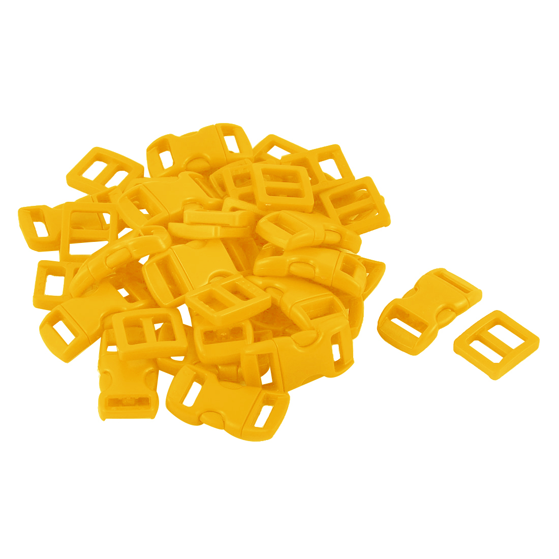 Suitcase Backpack Strap Plastic Side Quick Release Buckle Tri Glide Buckles Yellow 40 in 1