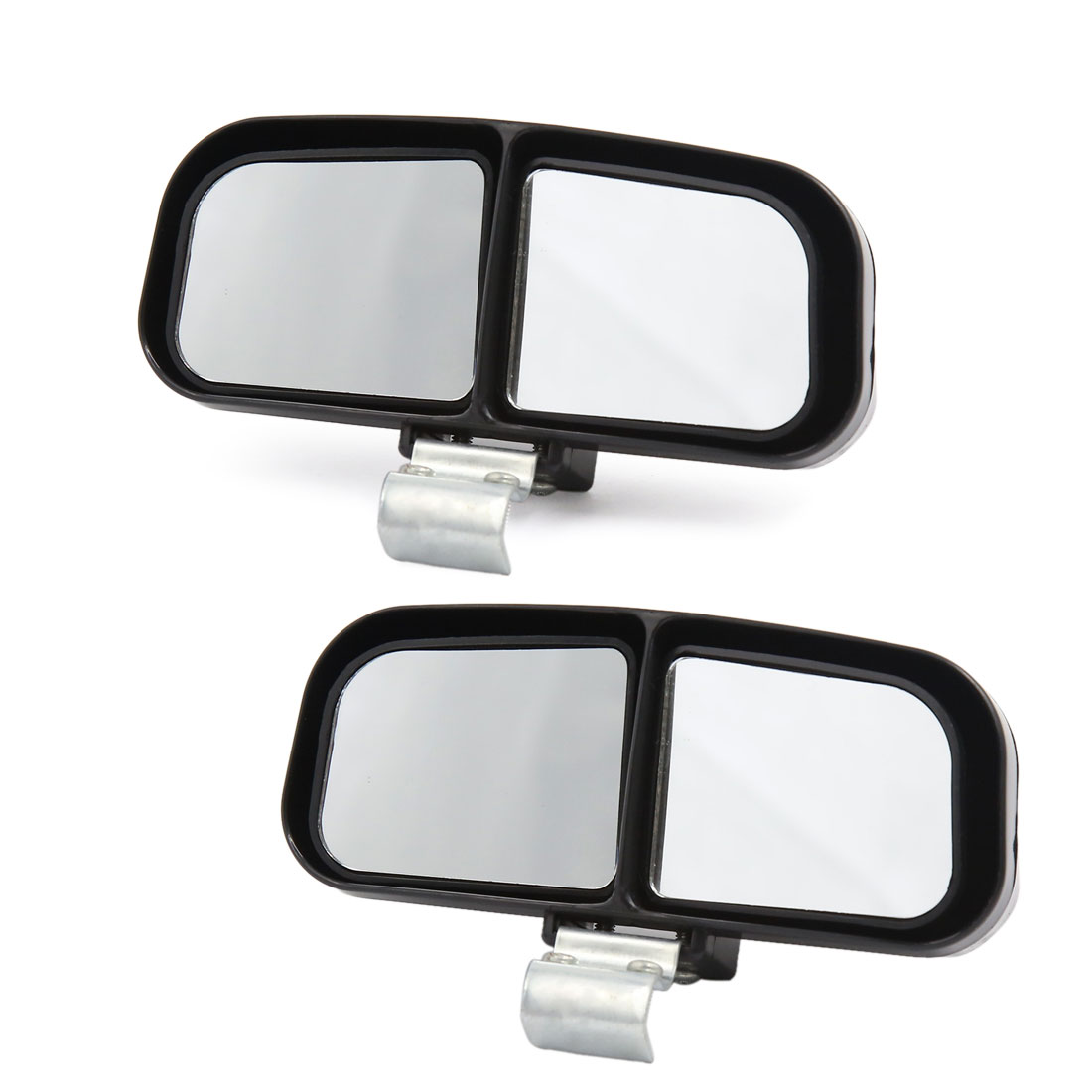 2pcs Adjustable Car Auxiliary Wide Angle Rearview Blind Spot Parking Mirror Black