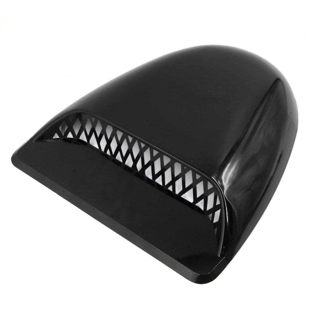Universal Auto Decorative Air Flow Scoop Turbo Bonnet Vent Cover Hood Black