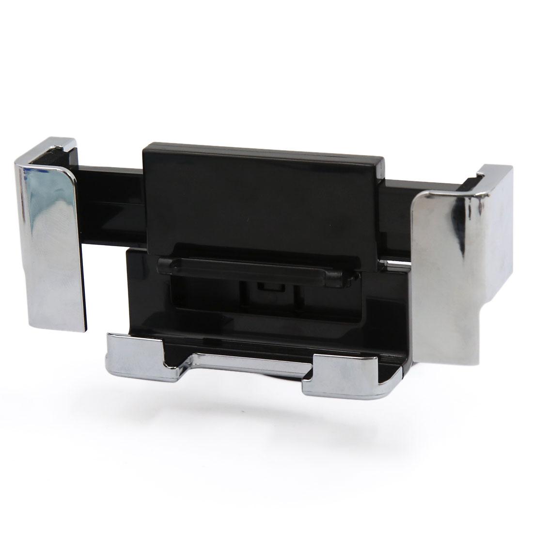 Car 360 Degree Rotatable Design Plastic Mount Clip Mobile Holder Silver Tone