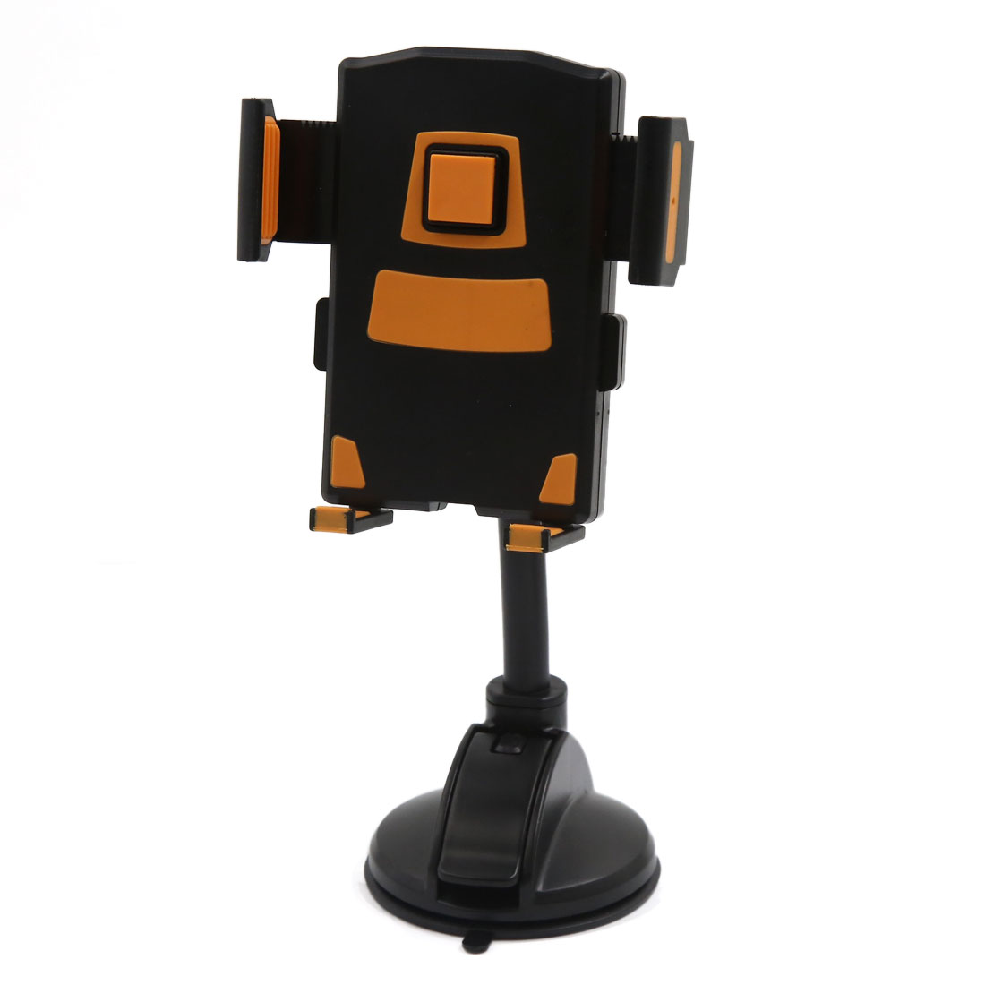 Universal Windshield Mount Cell Mobile Phone GPS Holder Bracket Black Orange