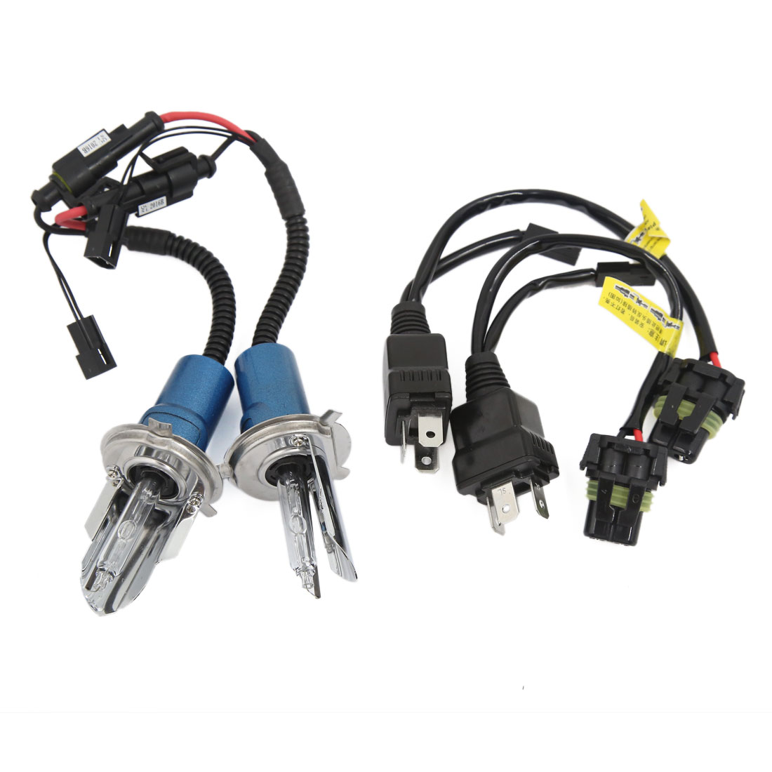 2PCS DC12V 35W-45W 5500K H4 Vehicle Metal Cover HID Xenon Headlight Lamp Bulbs