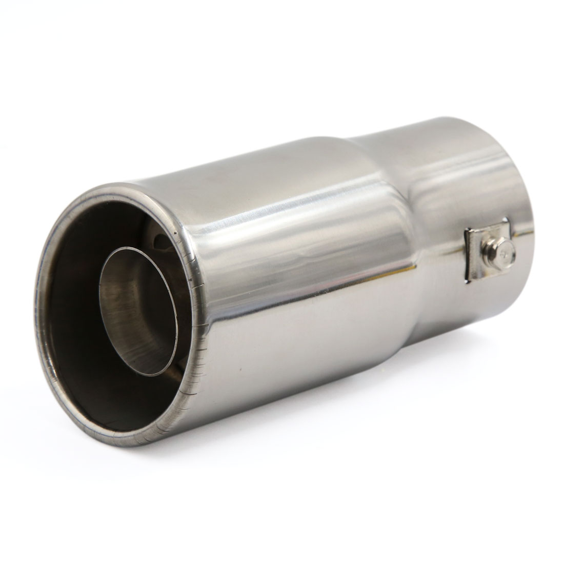 77mm Outlet Dia Stainless Steel Exhaust Muffler Silencer Tip Pipe Tail for Car
