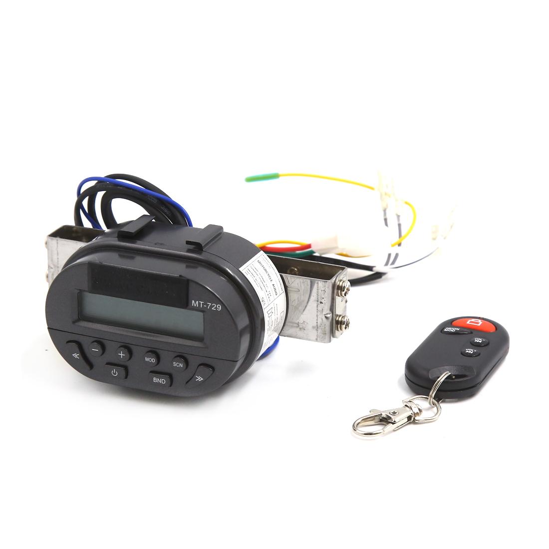MT729 Motorcycle Handlebar Mount Audio Radio System MP3 Player Remote Control