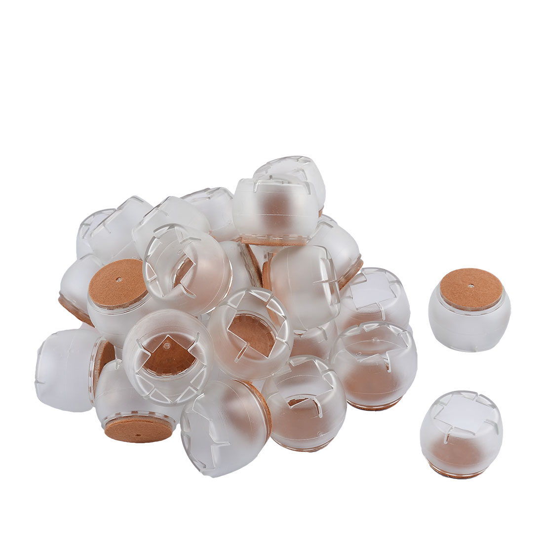 Home Silicone Round Bottom Furniture Floor Protector Table Desk Leg Pad Cap Cover Tip Clear 4.6 x 3.5cm 32pcs
