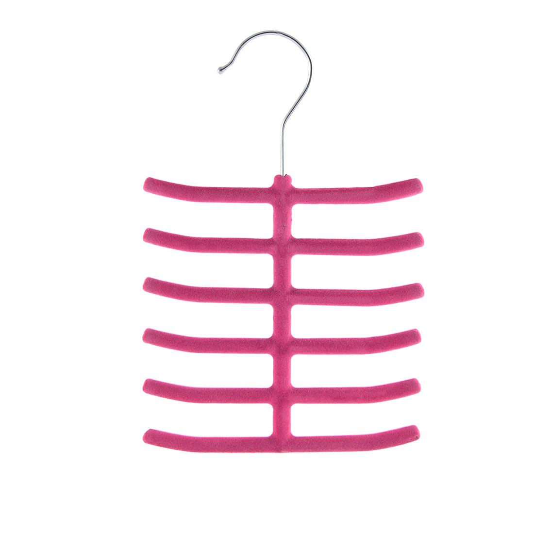 Household Bedroom Fishbone Shaped Towel Belt Shawl Scarf Necktie Rack Holder Fuchsia