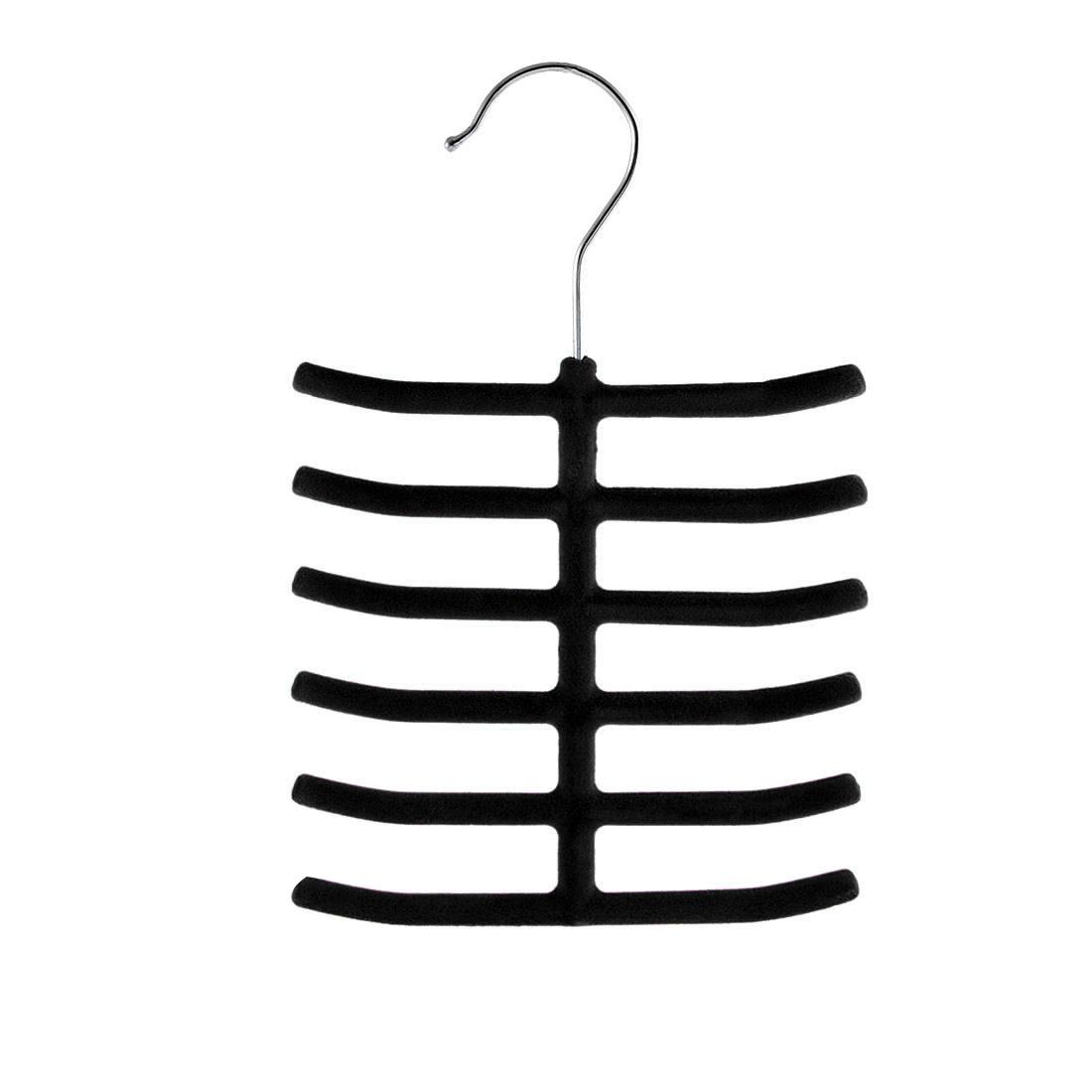 Household Bedroom Fishbone Shaped Towel Belt Shawl Scarf Necktie Rack Holder Black