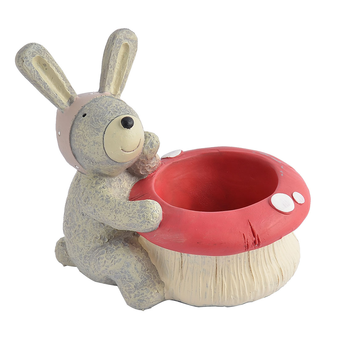Home Office Dormitory Desk Mini Polyresin Rabbit Shaped Flower Plant Pot