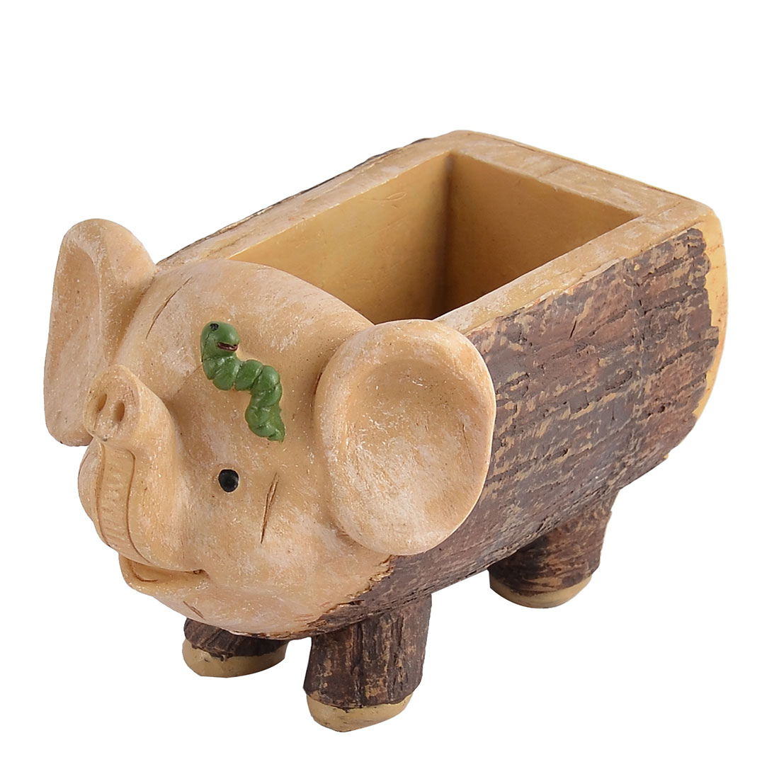 Home Office Desk Ornament Resin Mini Elephant Shaped Plant Flower Pot