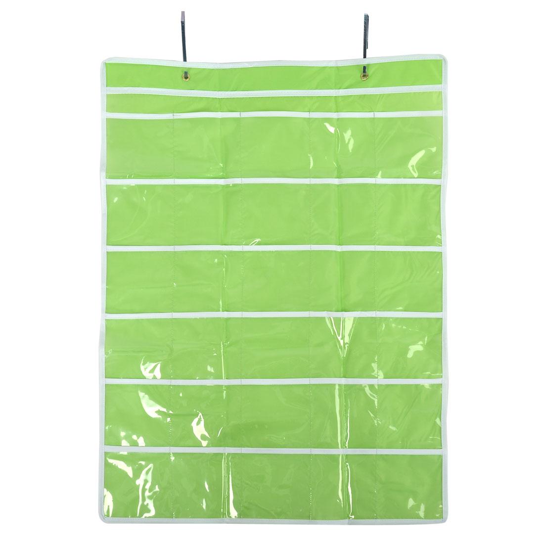 Room Wall Door Hanging Phone Storage Bag Case Organizer Light Green 30 Pockets