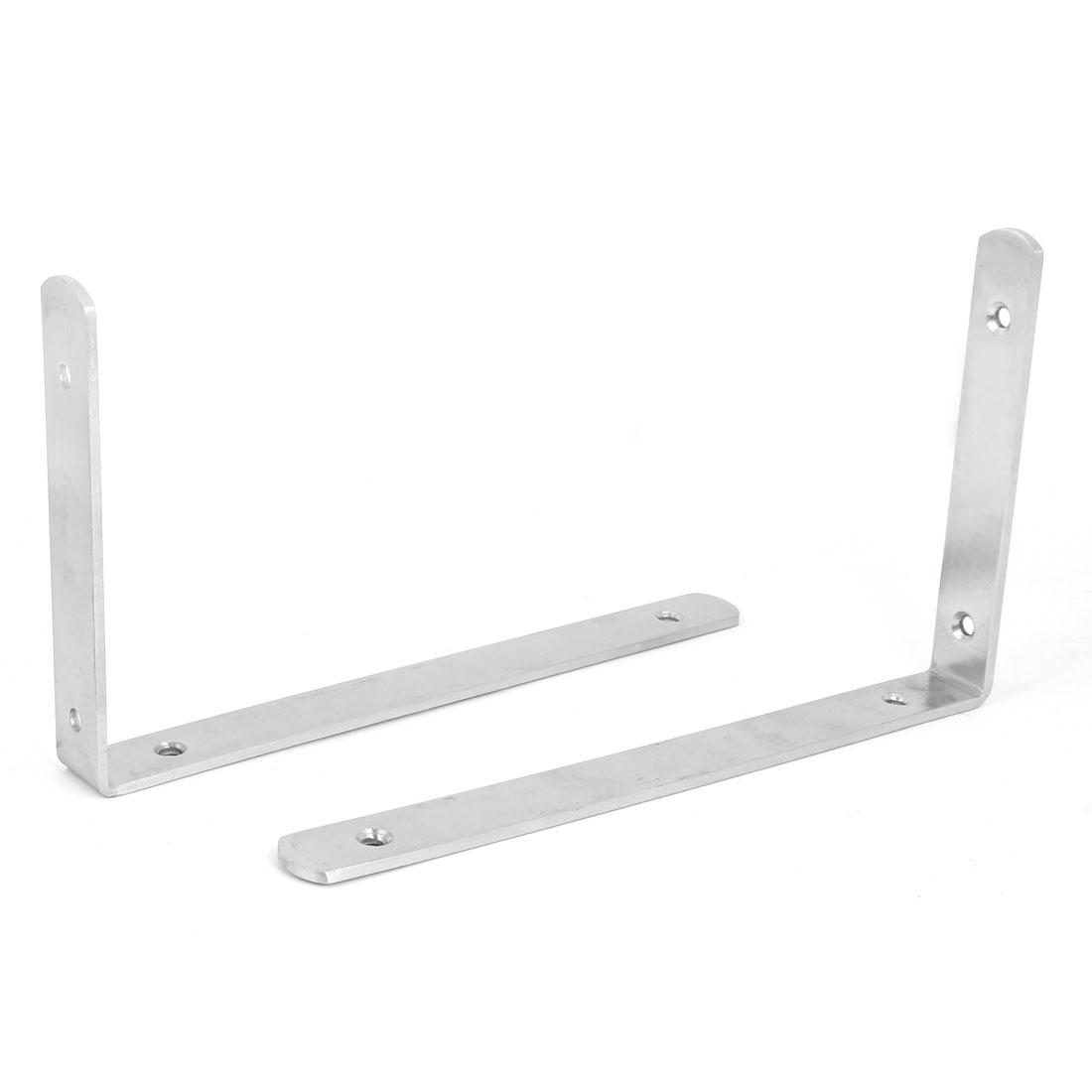 250mm x 150mm Stainless Steel L Shaped Wall Mounted Angle Bracket Brace 2pcs