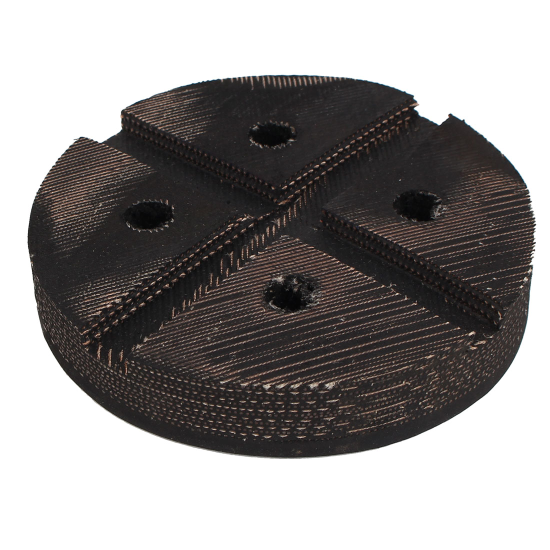 130mm Dia Rubber Canvas Round Slotted Lift Pad Frame Rail Proctector Black