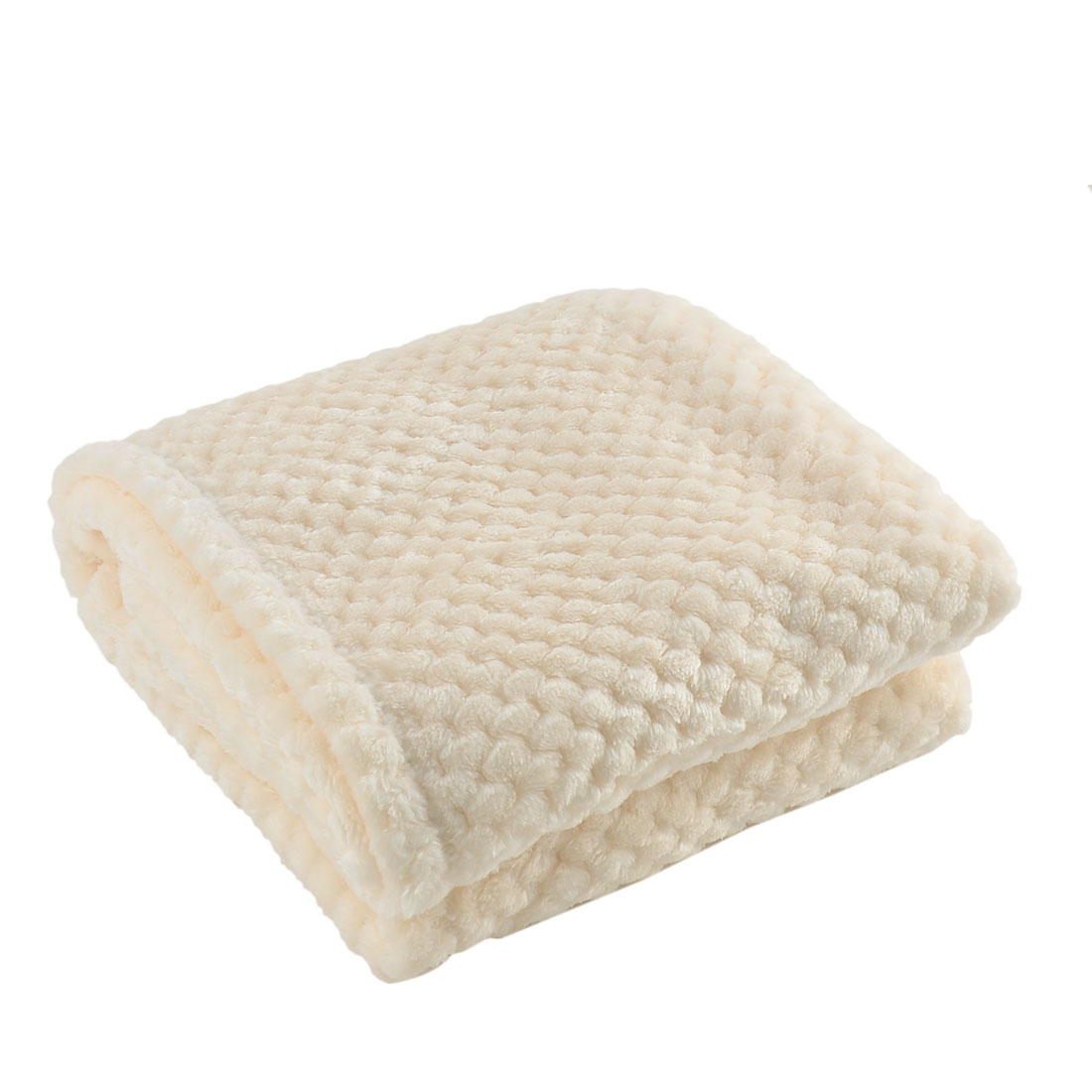 Home Bedroom Travel Warm Soft Throw Mesh Blanket Rug Quilt White