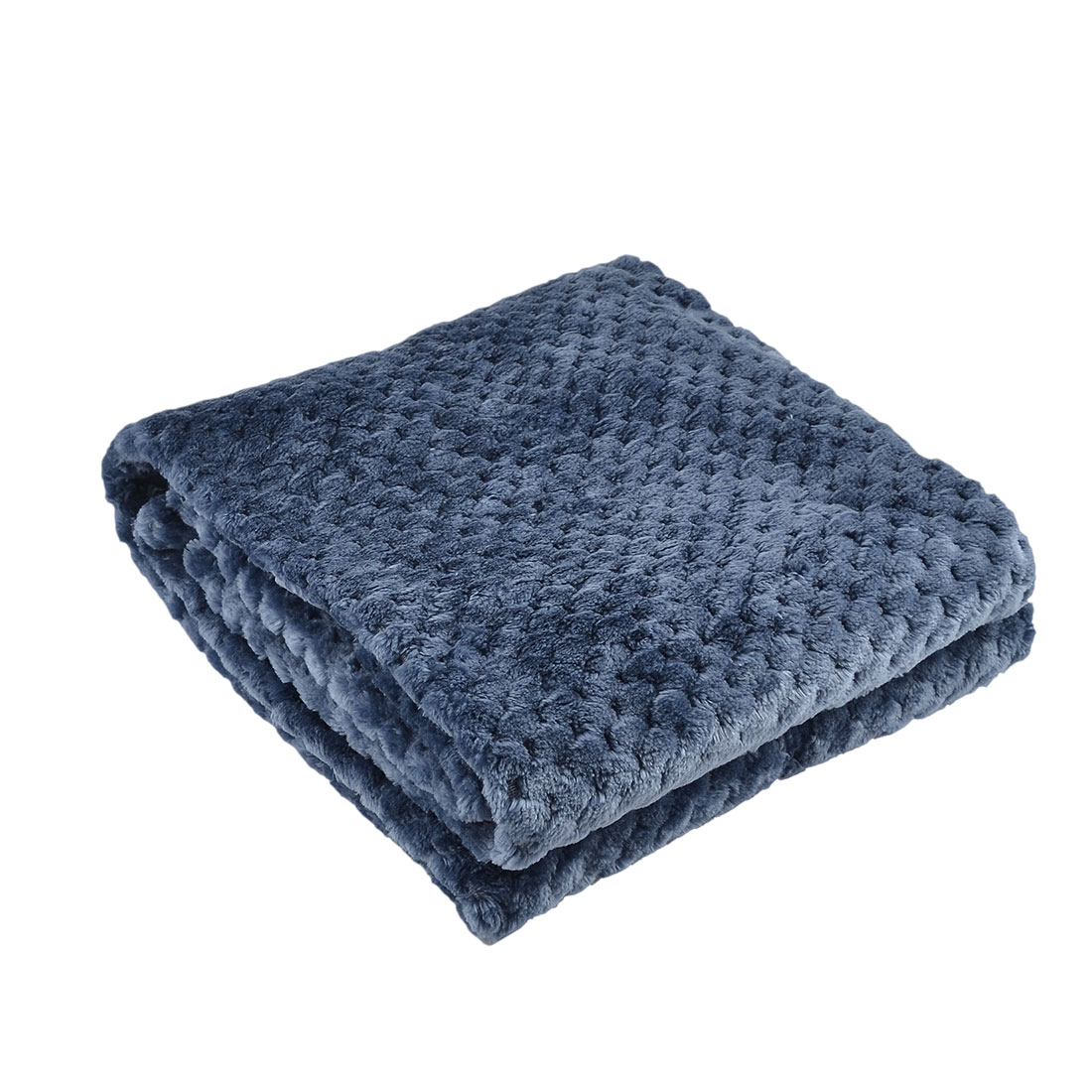 Home Bedroom Travel Warm Soft Mesh Blanket Rug Plush Fleece Bed Quilt Yale Blue