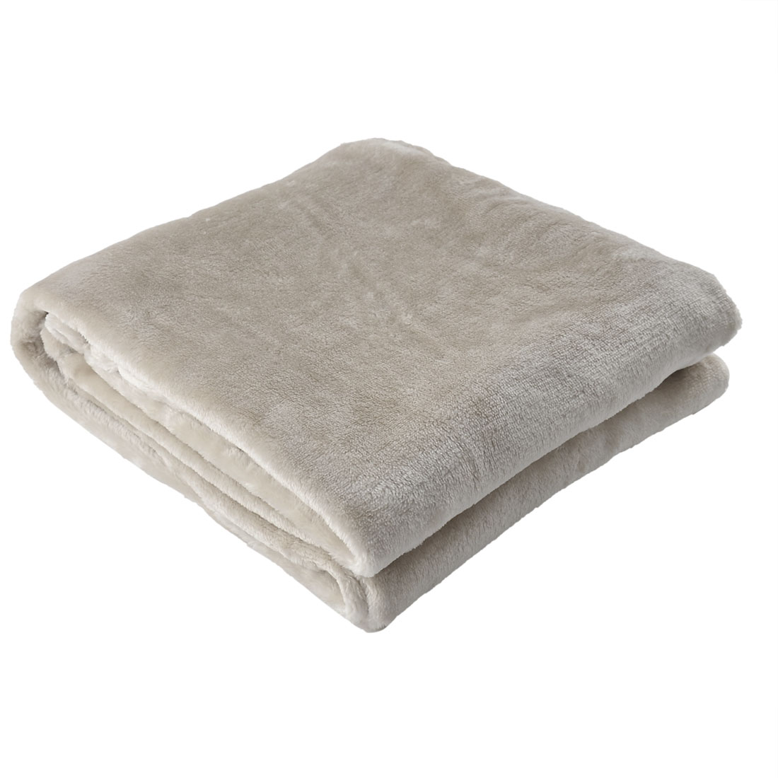 Home Bedroom Warm Soft Throw Pure Blanket Rug Bed Quilt Sofa Beige