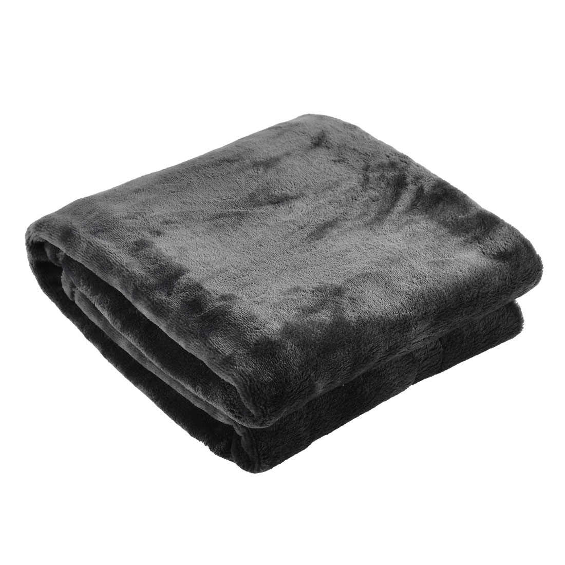 Home Bedroom Warm Soft Pure Blanket Rug Flannel Bed Quilt Sofa Dark Gray