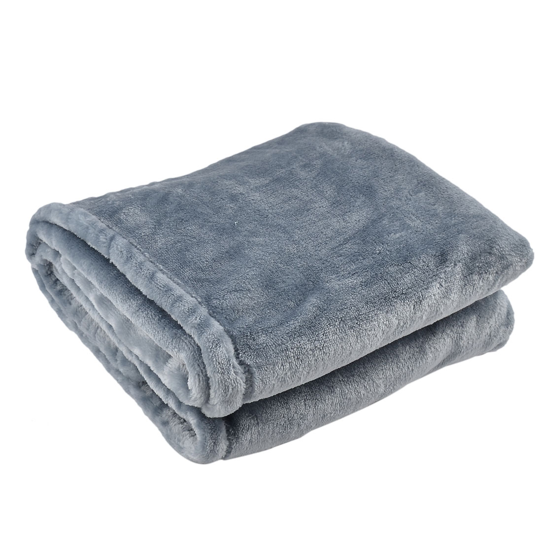 Home Bedroom Warm Soft Throw Pure Blanket Rug Flannel Bed Quilt Slateblue