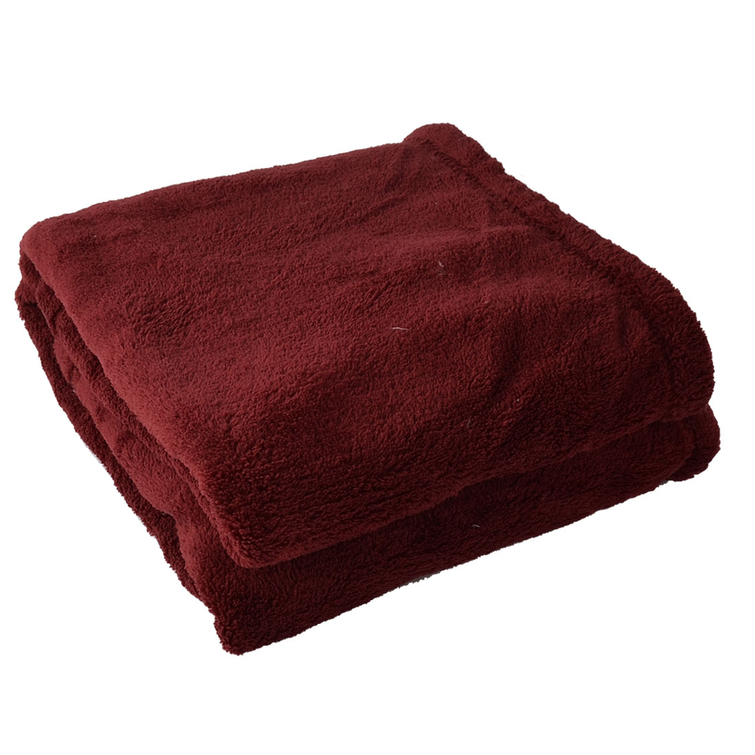 Bedroom Travel Airplane Warm Soft Pure Blanket Rug Plush Fleece Quilt Burgundy
