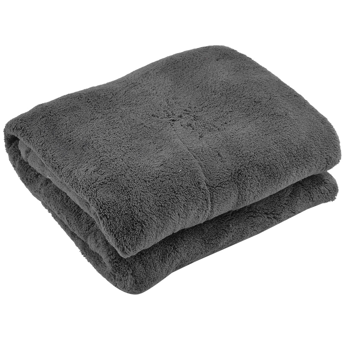 Home Bed Travel Airplane Warm Soft Throw Pure Blanket Rug Plush Quilt Dark Gray