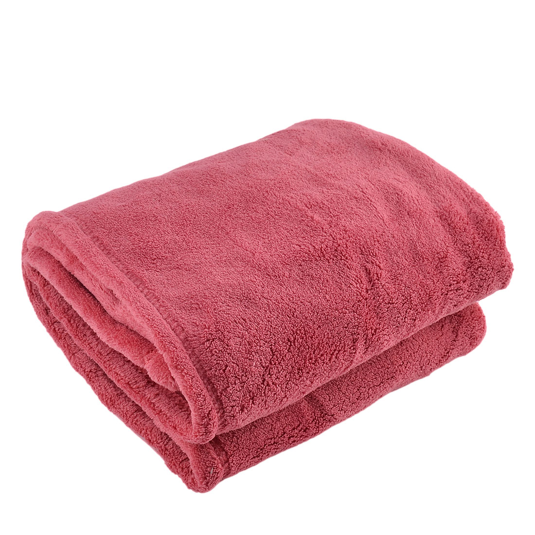 Home Bedroom Airplane Warm Soft Throw Pure Blanket Rug Plush Fleece Quilt Fuchsia