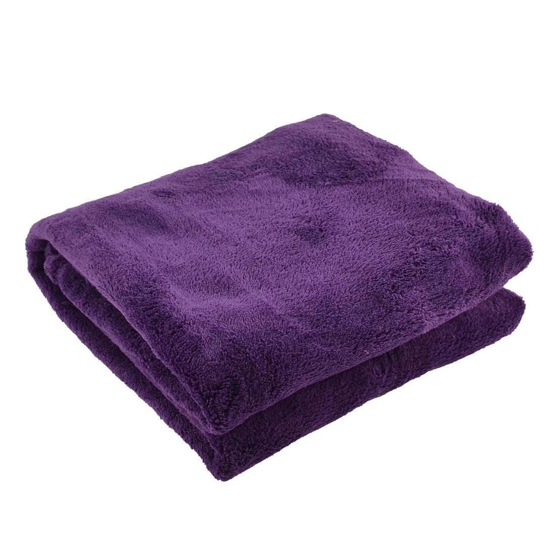 Home Bedroom Airplane Warm Soft Throw Pure Blanket Rug Plush Fleece Quilt Purple