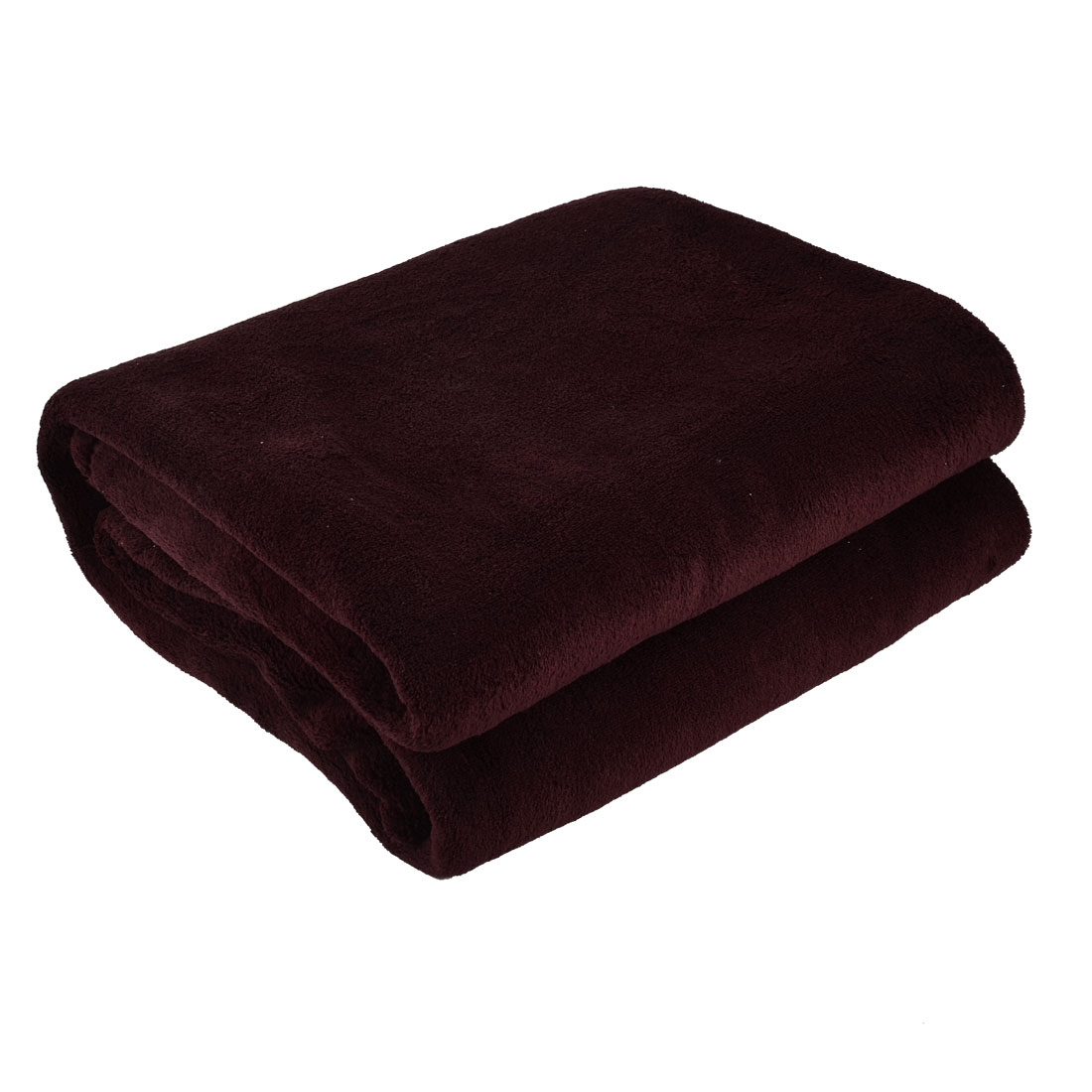 Bedroom Travel Warm Soft Throw Pure Blanket Rug Polyester Bed Quilt Sofa Burgundy