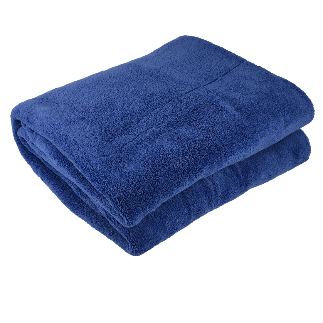 Home Bedroom Warm Soft Throw Pure Blanket Rug Bed Quilt Blue