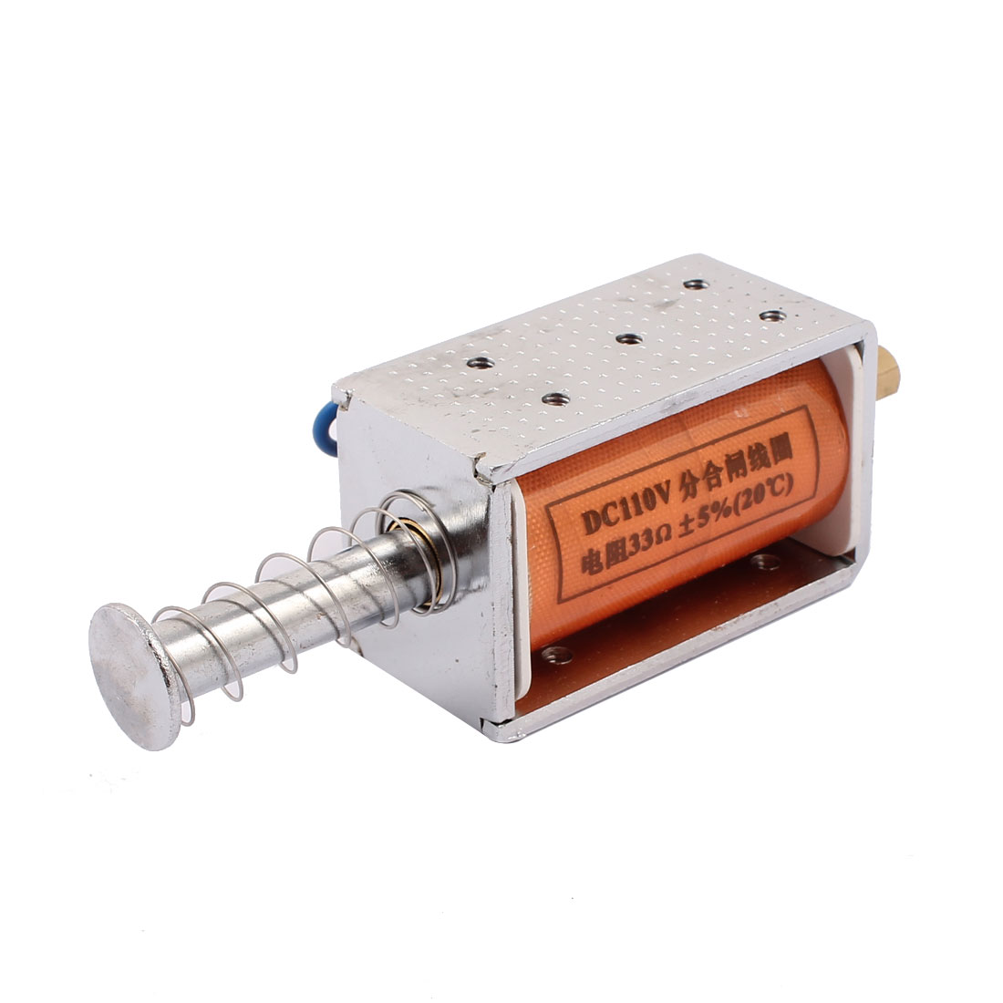 DC 110V 70N Open Frame Push Pull Type Solenoid Electromagnet Actuator
