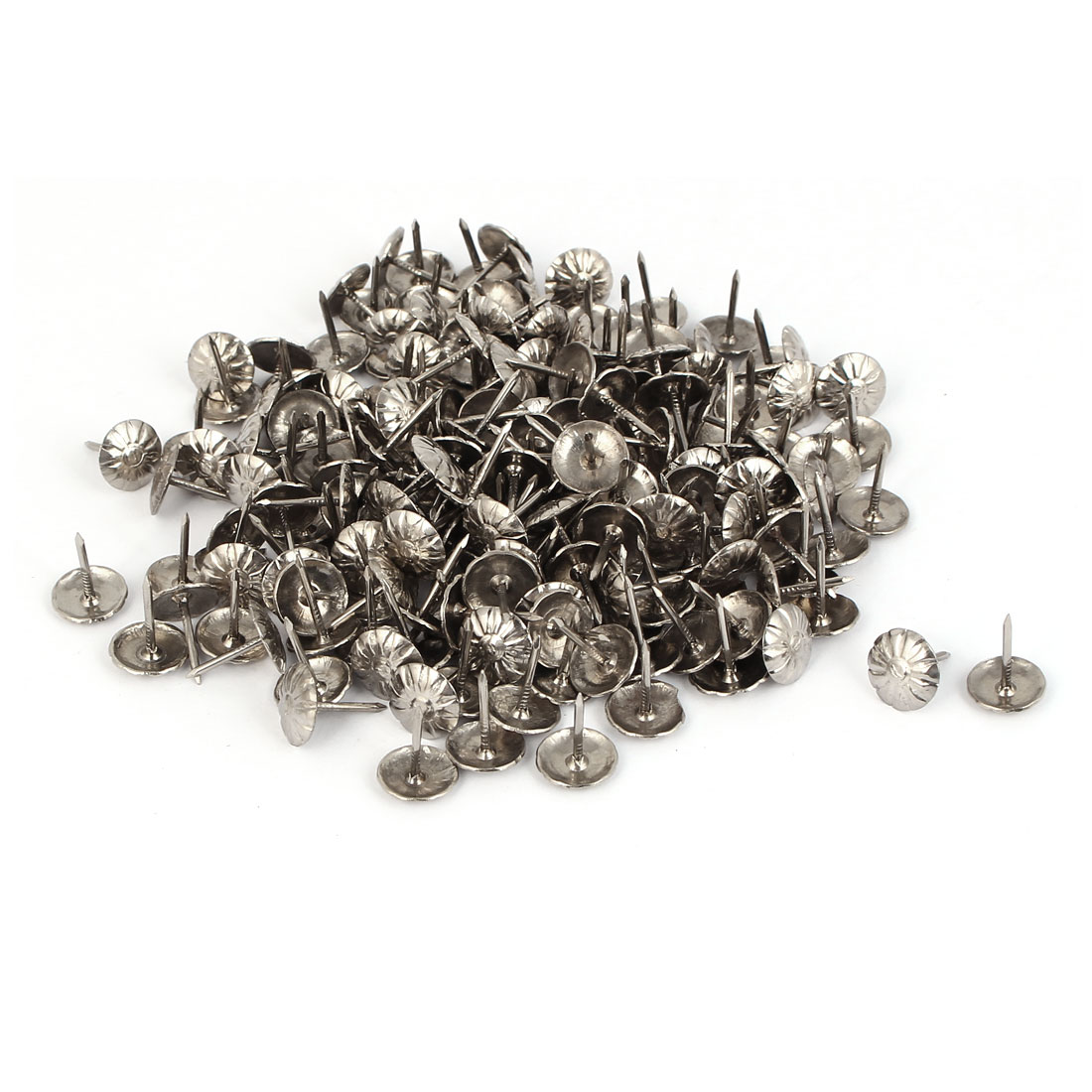 Notice Message Board Corkboard Iron Thumb Tacks Drawing Pins Silver Tone 300pcs