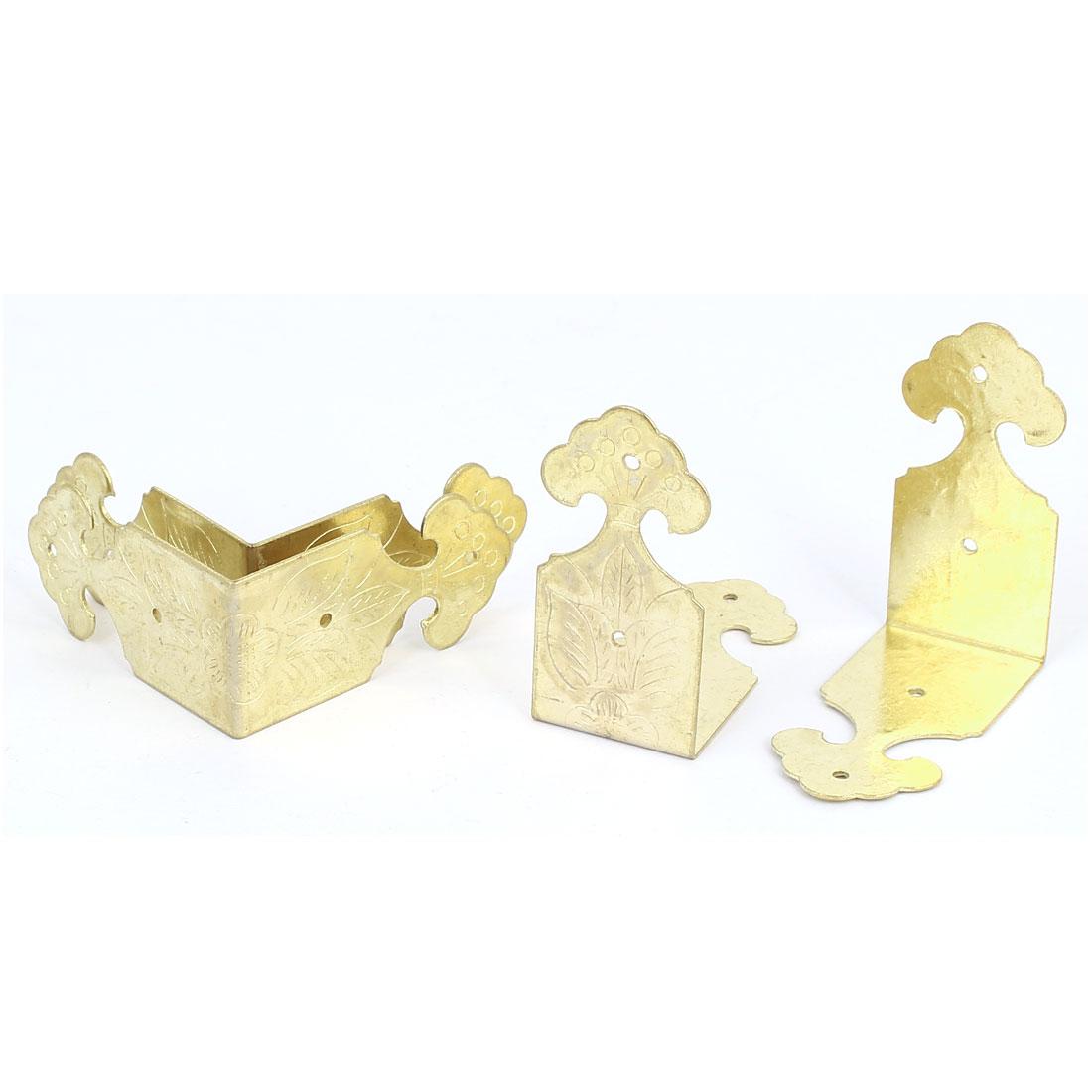 Chest Gift Box Desk Edge Cover Corner Protector Guard 46mm x 22mm 4PCS
