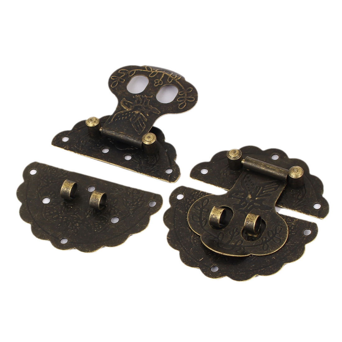 60mm Dia Toggle Latch Catch Trunk Lock Bronze Tone 2PCS for Chest Case Gift Box