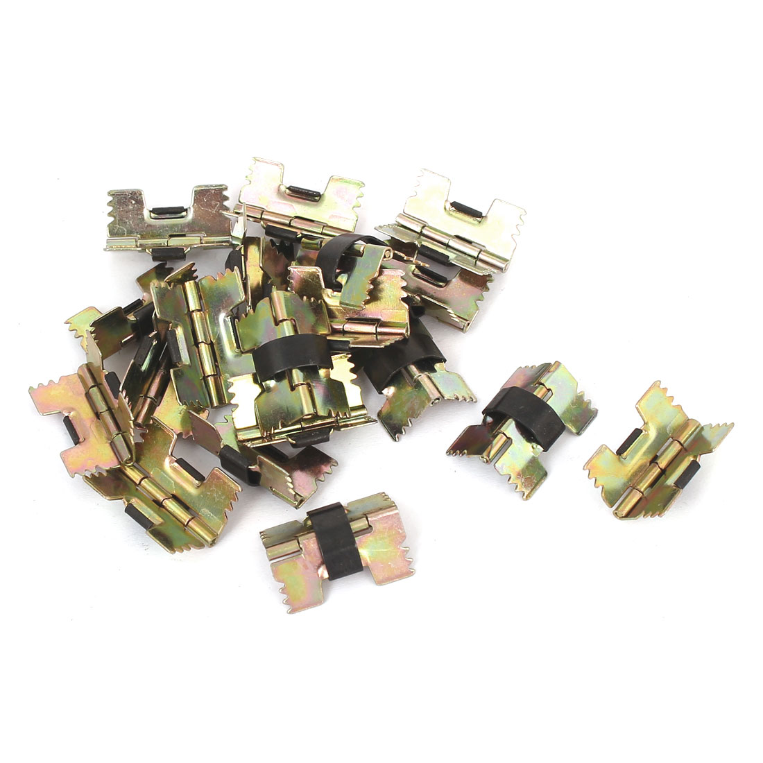 Yellow Zinc Plated Door Butt Hinge Bronze Tone 20PCS for Closet Cupboard