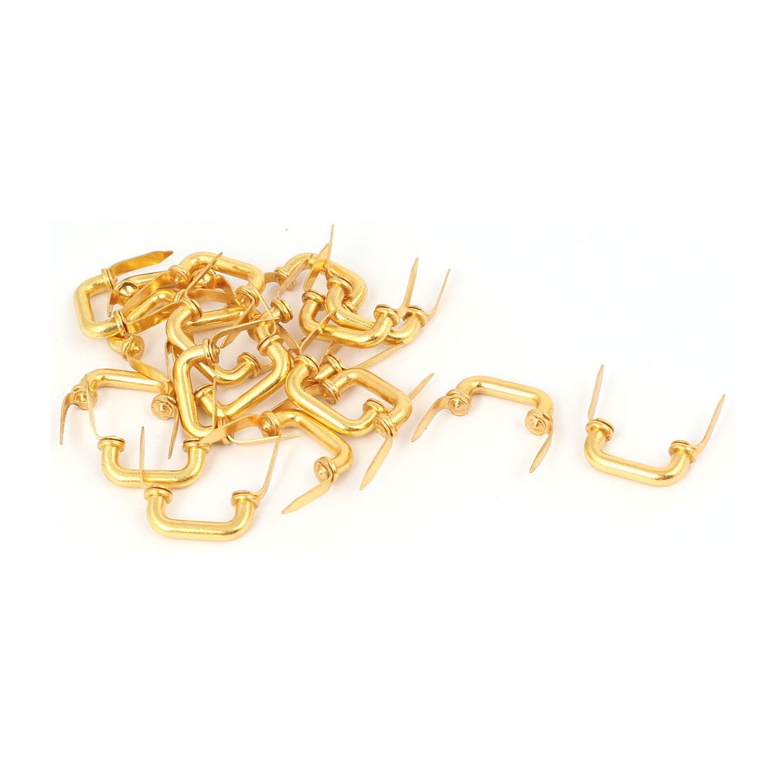 Drawer Case Box Cabinet Chest Pull Handle Gold Tone 20PCS