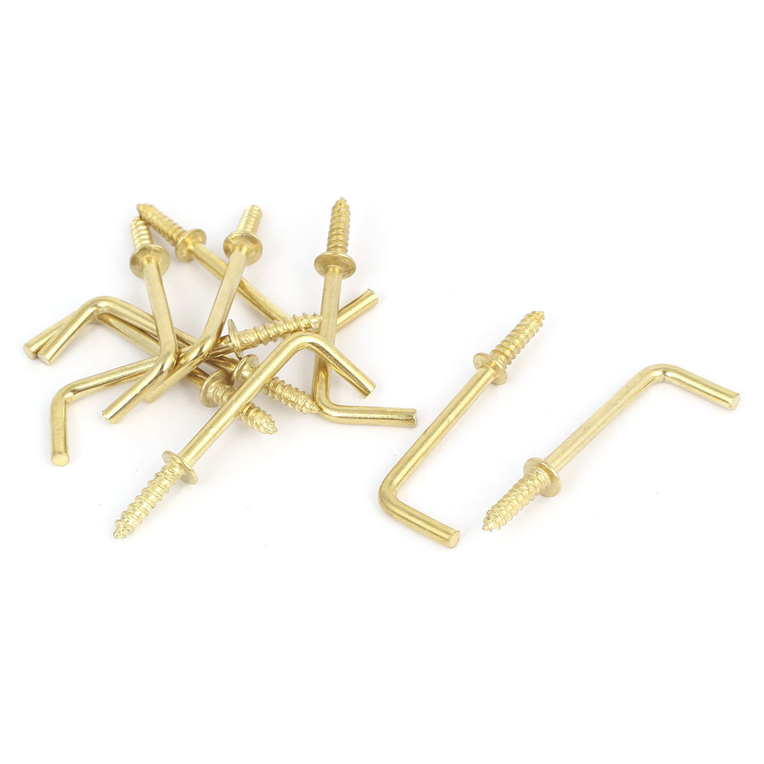 47mm x 16mm x 3mm L Shaped Shoulder Straight Dresser Cup Hook Hanger 10PCS