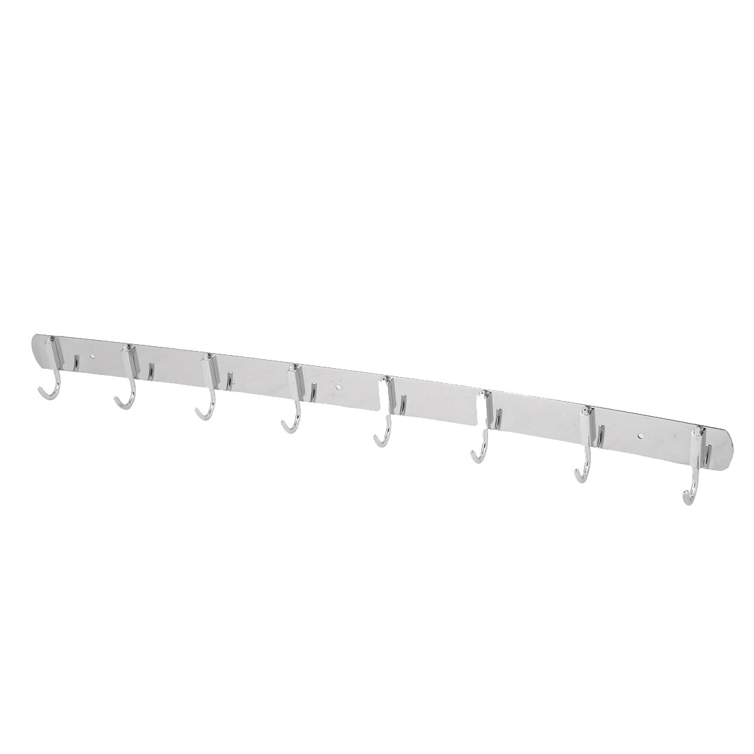 Home Bathroom Wardrobe Clothes Towel 8 Hooks Stainless Steel Wall Mount Hook