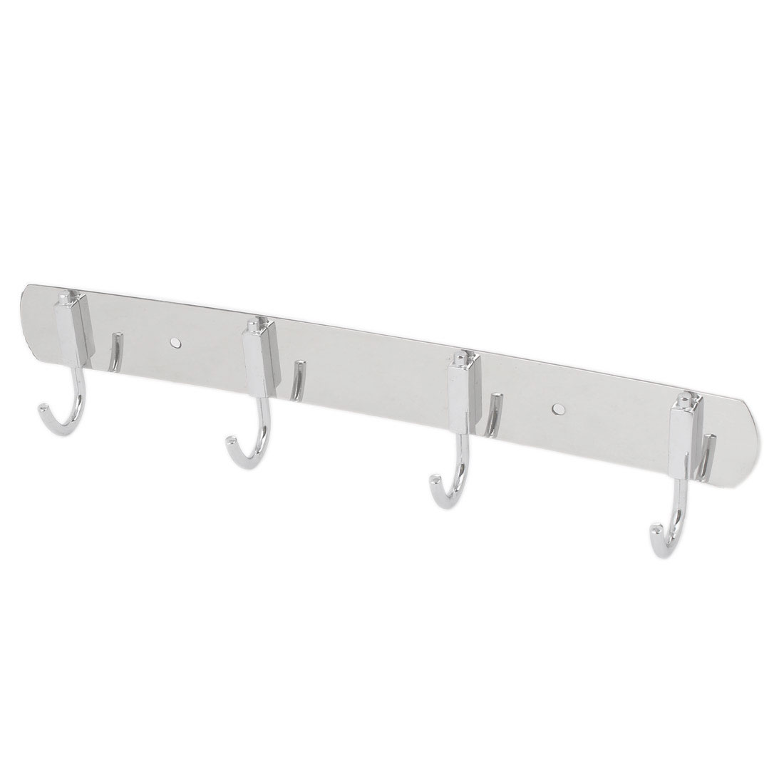 Home Bathroom Bedroom Clothes Towel Coat Bag 4 Hooks Stainless Steel Wall Hook