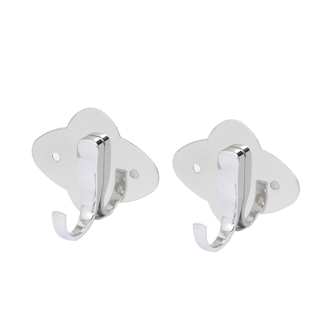 Bathroom Clothes Hat Coat Single Hanger Stainless Steel Wall Mount Hanging Hook 2pcs