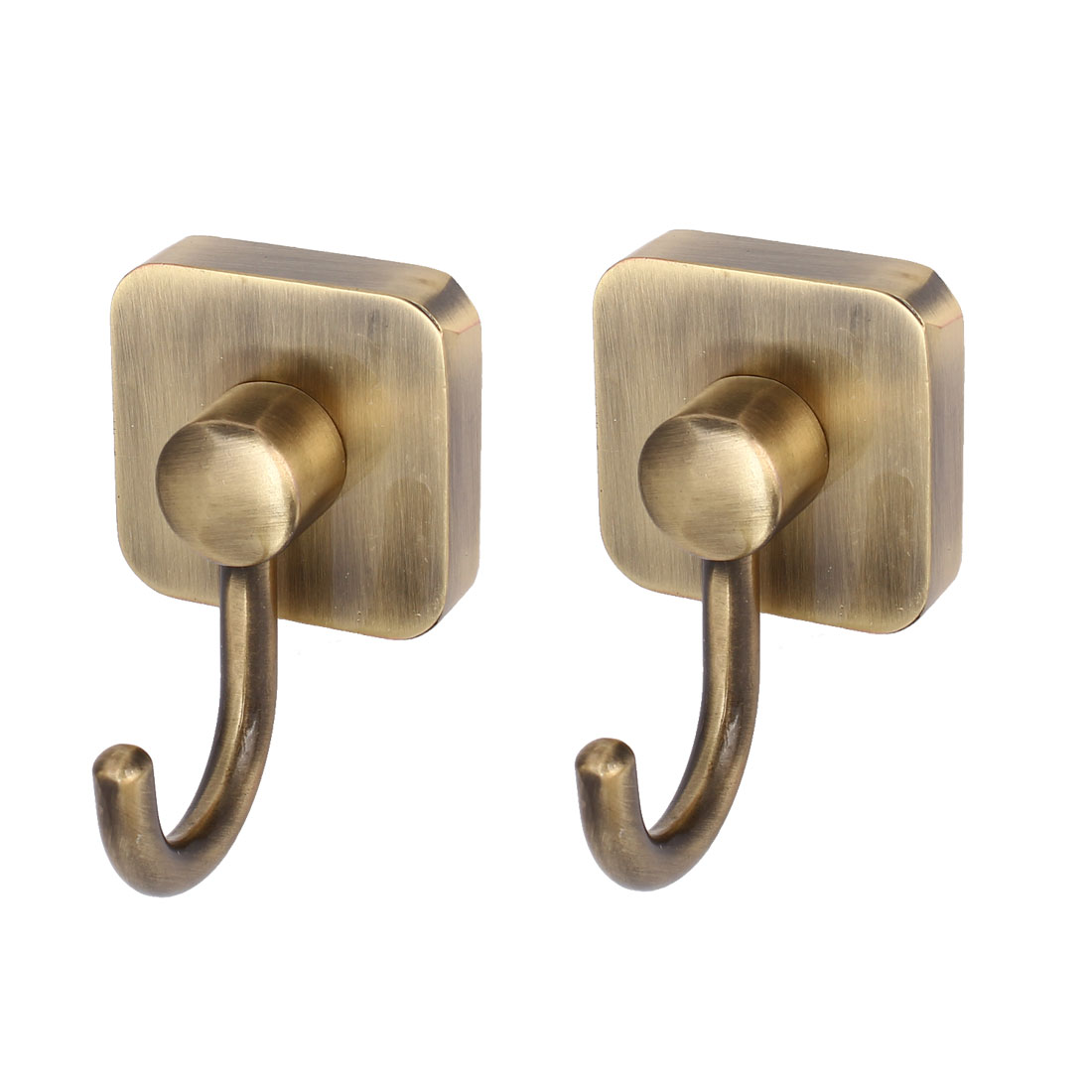 Bathroom Coat Scarf Single Hook Metal Wall Hanger Bronze Tone 2pcs