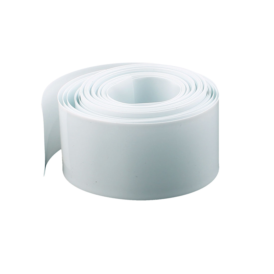 16mm Length 18.5mm Dia PVC Heat Shrink Tubing Battery Protective Tube White