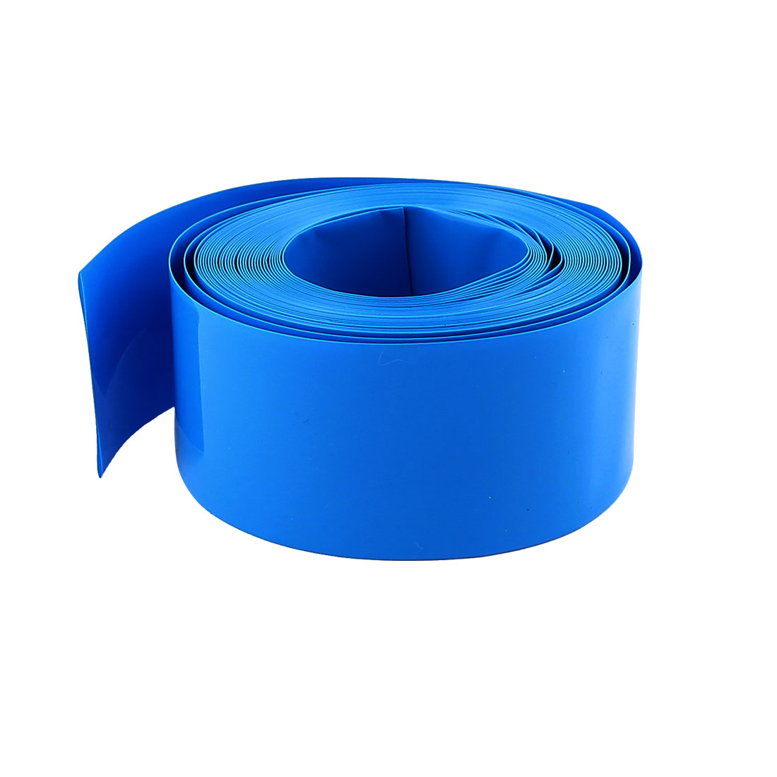16ft 18.5mm Dia Blue PVC Insulated Heat Shrink Tubing Battery Protective Tube