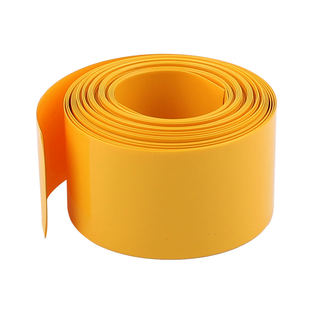 5m x 18.5mm Dia Yellow PVC Insulated Heat Shrink Tube Battery Protective Casing