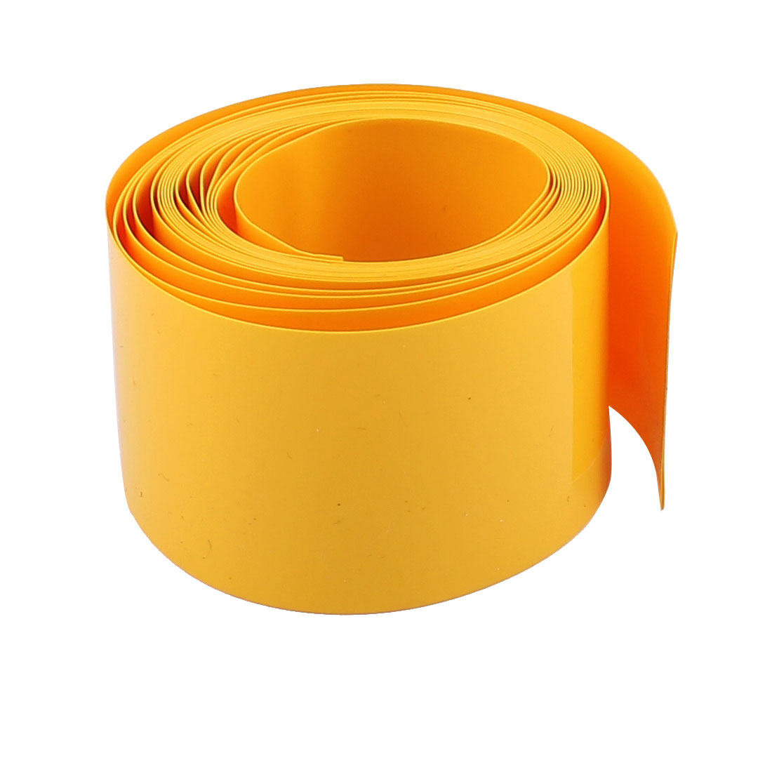 2m 18.5mm Dia PVC Insulated Heat Shrinkable Tube Battery Protective Casing Yellow
