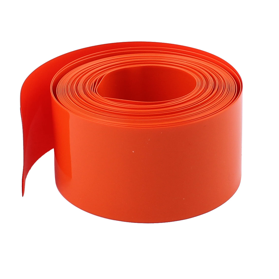 18.5mm Dia PVC Heat Shrinkable Tube Battery Protective Casing Orange 16ft Length