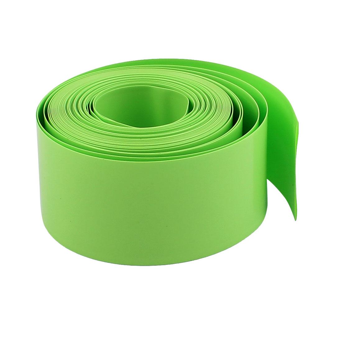 5m x 18.5mm Dia PVC Heat Shrinkable Tube Battery Protective Casing Green