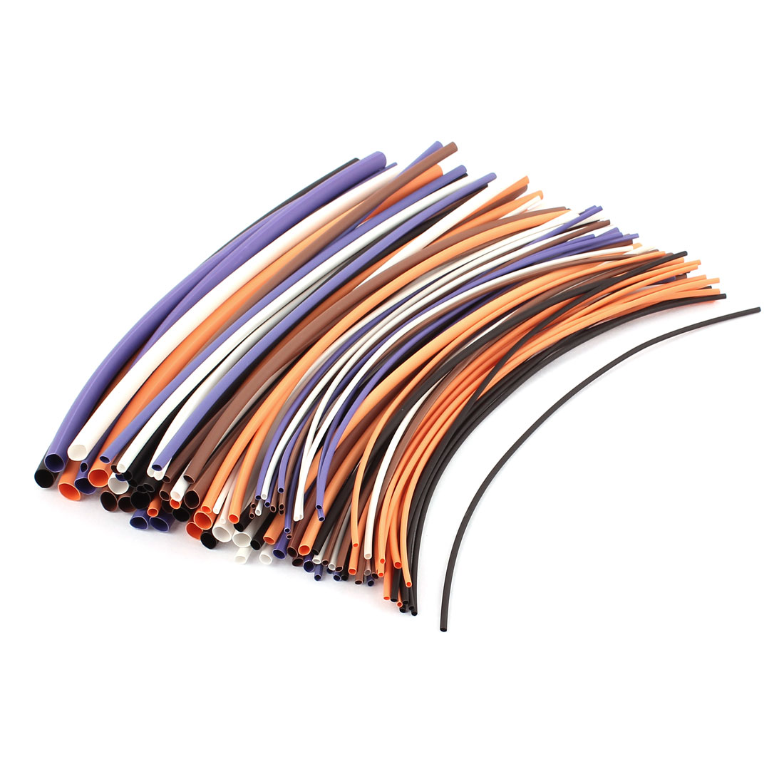 "100pcs 7.87"" Length Assorted Color&Size Heat Shrink Tube Sleeving Wrap Wire Kit"